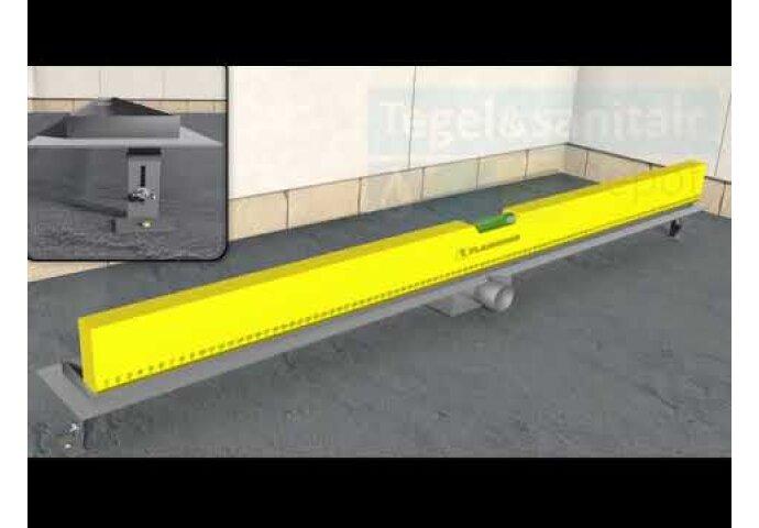 RVS Douchegoot Muurflens met uitneembaar sifon TEGEL ROOSTER BWTP/DRTEGEL