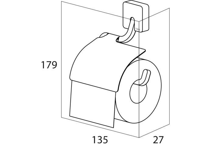 Toiletrolhouder Tiger Impuls met Klep Chroom