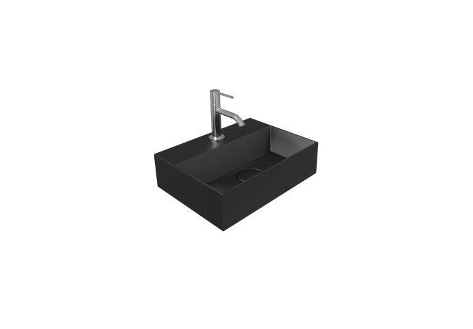 Fontein Salenzi Spy 40x30 cm Mat Zwart (inclusief bijpassende waste)