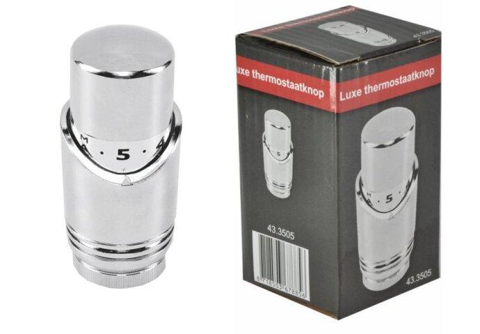 Riko luxe thermostaatknop M-30 chroom