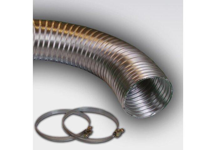 Compactslang Ø 100Mm X 3 M Aluminium (Incl. 2 Slangklemmen)