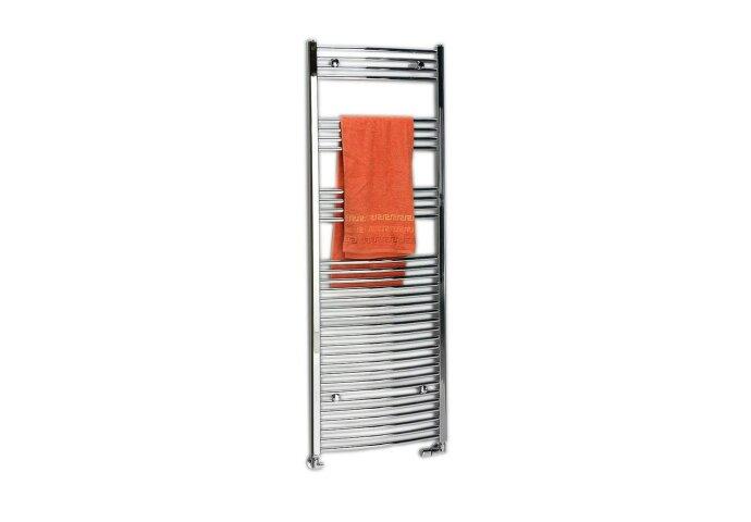 Handdoekradiator Sapho Alya Gebogen 45x80 cm 274W Chroom