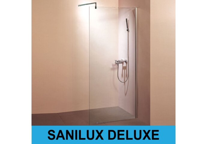 Inloopdouche Sanilux Deluxe met muurprofiel 10mm EasyClean (ALLE MATEN)
