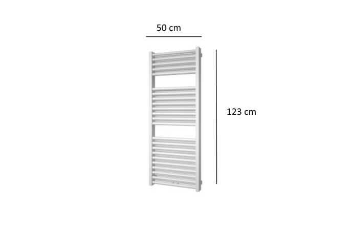Designradiator Plieger Imola 802 Watt Middenaansluiting 123x50 cm Wit