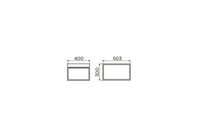 Clou Hammock Frame Kokerprofiel Kast Zonder Bodem RVS Mat Zwart 40x50.3x30cm