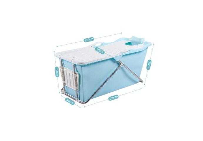 Opvouwbaar Zitbad Bath Bucket 2.0 voor Volwassenen 125x59x57 cm Roze