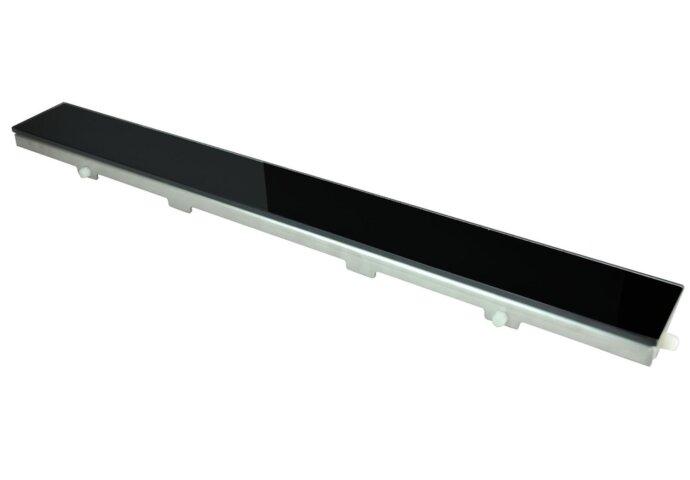 Glasrooster zwart 1200x70 tbv RVS douchegoot