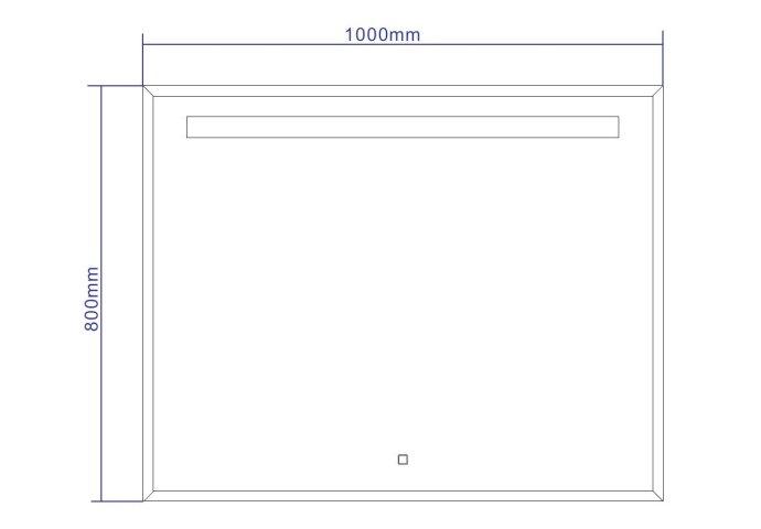 Spiegel Best Design Miracle LED Verlichting 100x80cm
