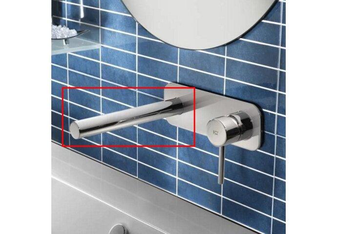 Losse uitloop Hotbath Buddy 25cm Recht model Rond Chroom Look B095/25CR