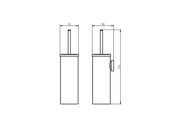 Toiletborstel Haceka Kosmos 38x10 cm Metaal Mat Wit