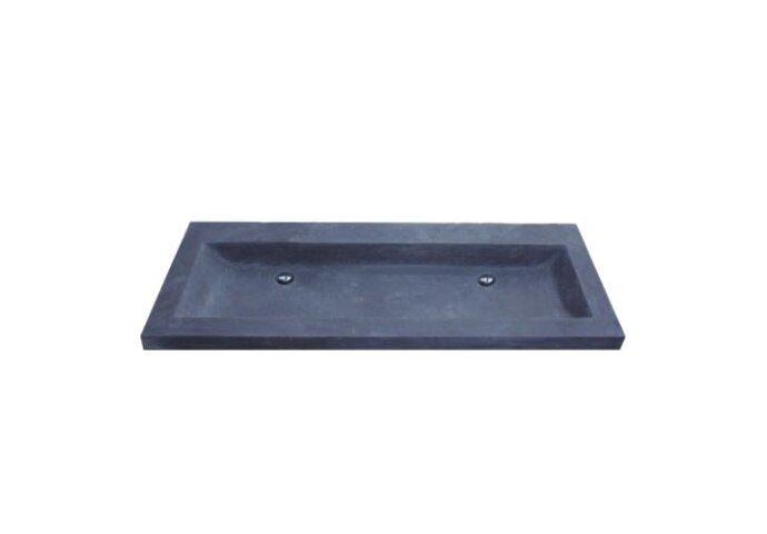 Wasblad Sanilux Trend Stone 120x47x5cm Natuursteen (zonder kraangat)