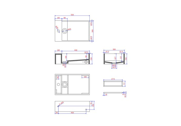 Wastafel Ideavit Solidcube 40x22x10 cm Solid Surface Mat Wit