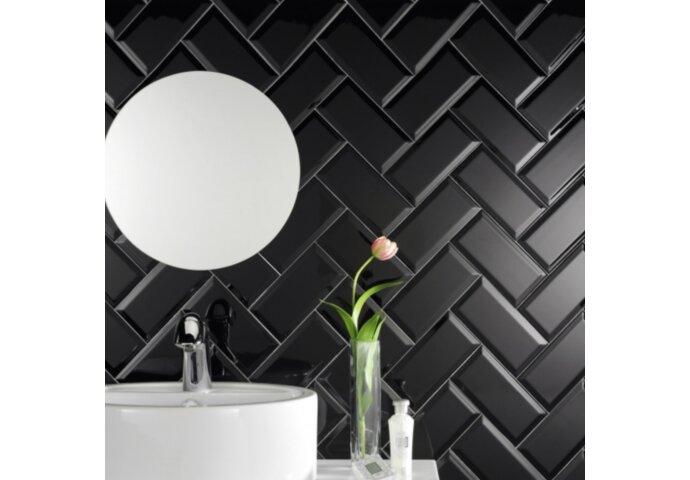 Wandtegel Metro 10x20 Mat zwart (p/m2)
