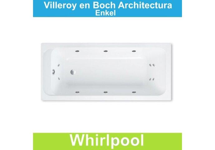 Ligbad Villeroy & Boch Architectura 160x70 cm Balboa Whirlpool systeem Enkel   Tegeldepot.nl