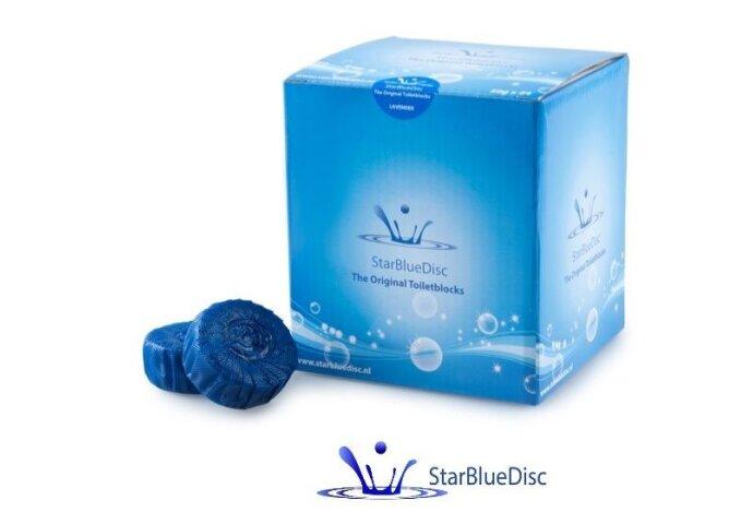 24 Geberit StarBlueDisc Toiletblokjes Blauw (Jaarverpakking)
