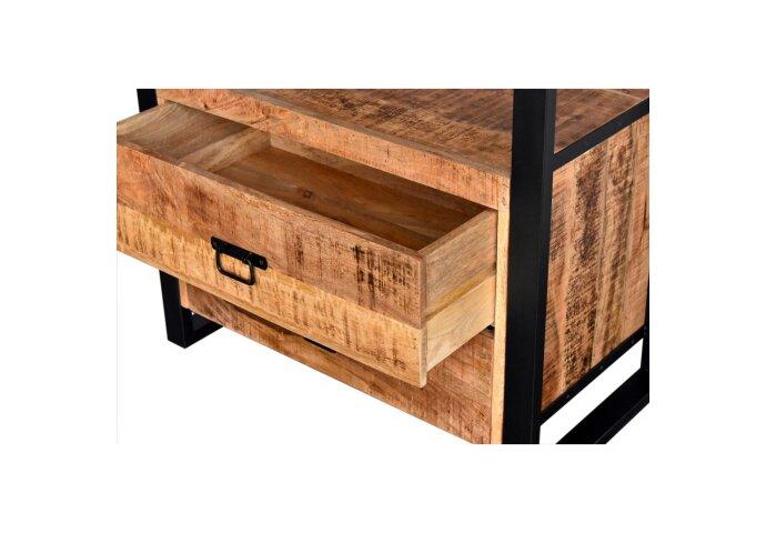 Onderkast Boss & Wessing Mango Wood 80x50x81 cm Met Mat Zwart Metaal