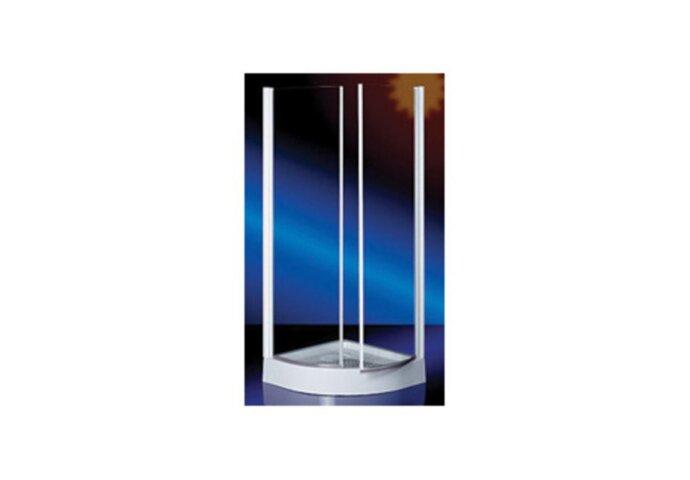 Douchecabine Hoekinstap Plieger Royal Kwartrond Draaideur 6mm Glas 90x190cm Chroom