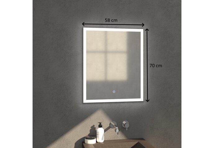 Badkamerspiegel met LED Verlichting Sanitop Edge 58x70x3 cm