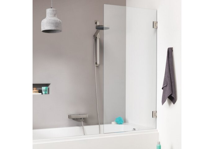 Badwand Get Wet by Sealskin 'I AM' 85x160 cm Chroom/Zilver 1 deel Helder Antikalk glas
