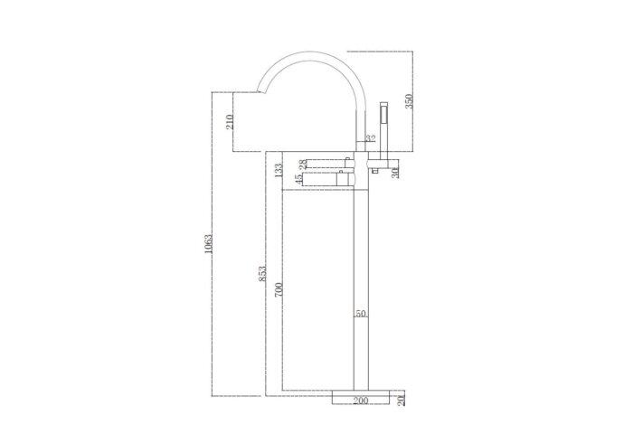 Thermostatische Badkraan Best Design Importa Vrijstaand Chroom
