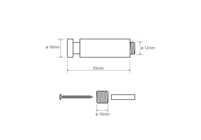 Handdoekhaak Sapho X-Steel 5.5x1.6 cm Geborsteld RVS