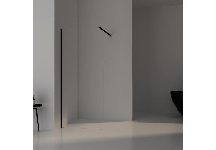 BWS Inloopdouche Pro Line Helder Glas Black Chrome Profiel en Stang (13 varianten)