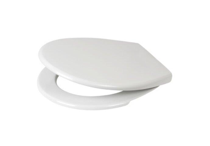 Toiletzitting Plieger Economy Met Deksel Thermoplast Met RVS Bevestigingsset Wit