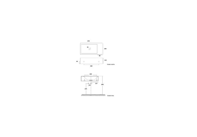 Fonteinset Plieger Met Handdoekrek 37 cm Mat Zwart (Exclusief Kraan En Afvoer)