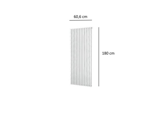 Designradiator Plieger Siena Enkele Variant 1422 Watt Middenaansluiting 180x60,6 cm Wit