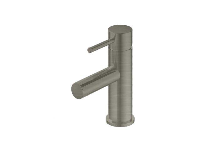 Wastafelmengkraan Hotbath Buddy 1-hendel Recht 17 cm Geborsteld Nikkel