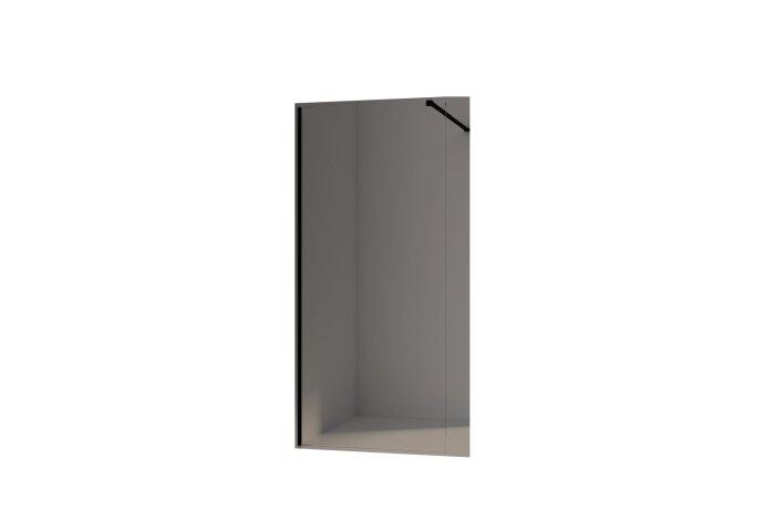 BWS Inloopdouche Pro Line Helder Glas Black Brushed Profiel en Stang (13 varianten)