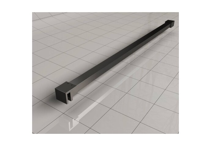 BWS Inloopdouche Pro Line Middenband 8mm Nano Coating Mat Zwart Profiel en Stang (ALLE MATEN)