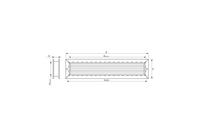 Deurrooster Weckx Aluminium 47 mm