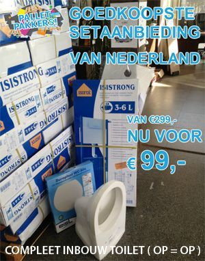 Pallet Pakkers - goedkoopste inbouw toiletset