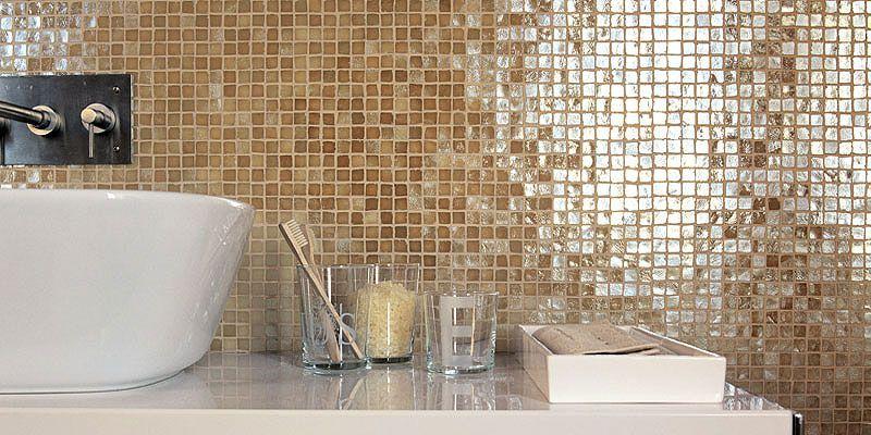 Nieuws moza ek tegel een sieraad voor wand en vloer - Donker mozaieken badkamer ...